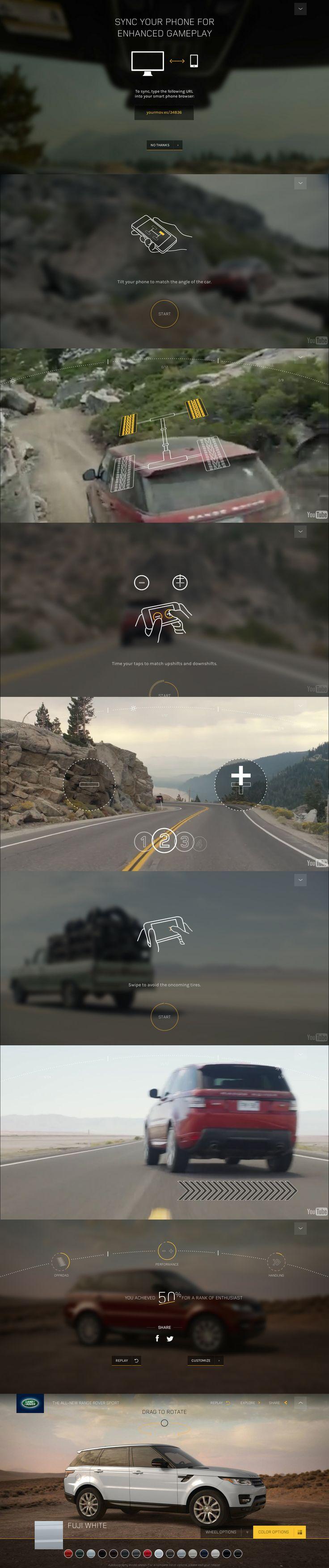 Cool Automotive Web Design on the Internet. Range Rover. #automotive #webdesign @ http://www.pinterest.com/alfredchong/automotive-web-design/