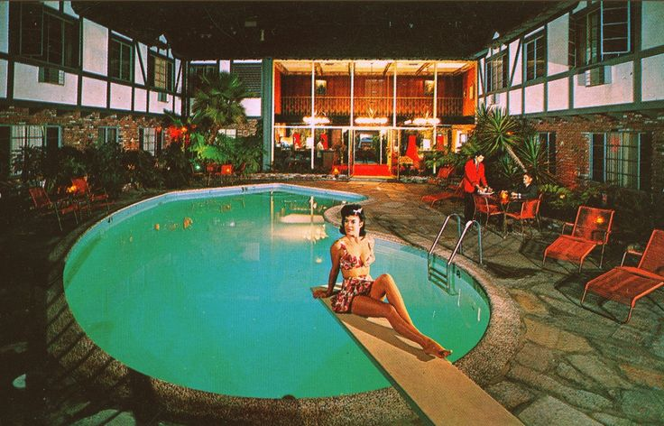 Cockatoo hotel and restaurant hawthorne california 1960s - Indoor swimming pool in los angeles ...