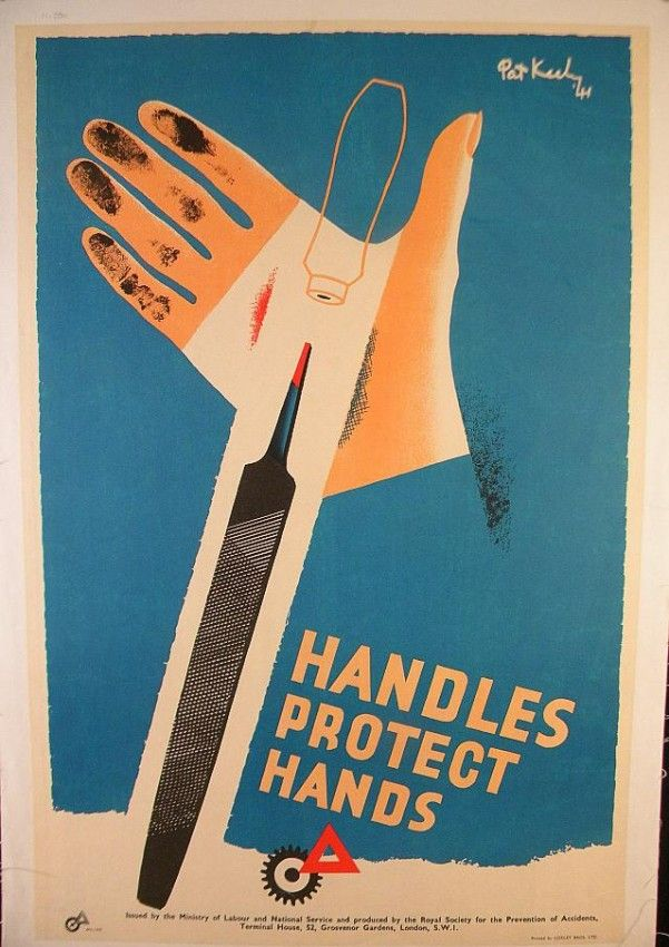 VINTAGE POSTER-WWII BRITISH SAFETY POSTER 1941
