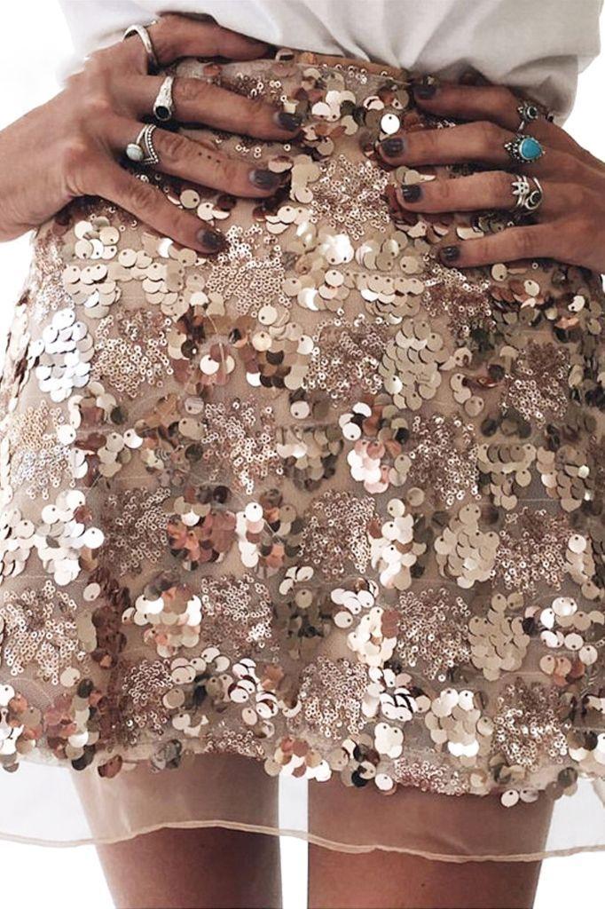 Sequined Skirt