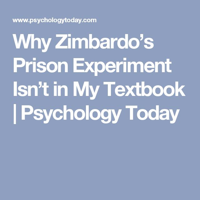 Best 25 psychology textbook ideas on pinterest psychology notes why zimbardos prison experiment isnt in my textbook psychology today fandeluxe Choice Image