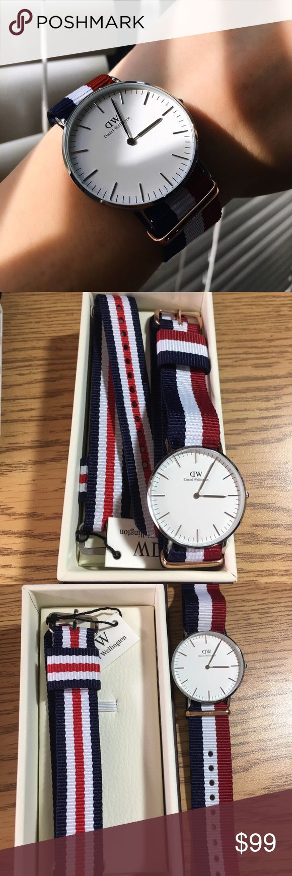 New Daniel Wellington watch New Daniel Wellington watch, comes with 2 straps in an original pack. Price on the website - 199$, my price - 70$.  #danielwellington #watch #sale Accessories Watches