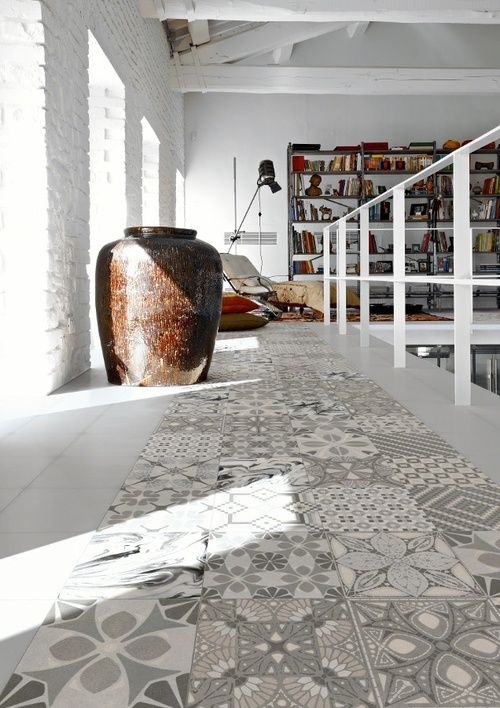 #encaustic_cement_tiles: same size, same colors, different #patterns. Great!