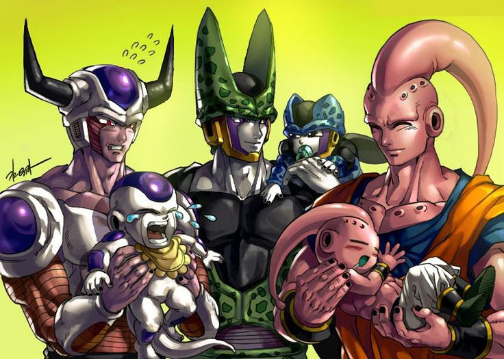 #King Cold #Frieza #Cell #Cell jr #Mystic Buu #Kid Buu