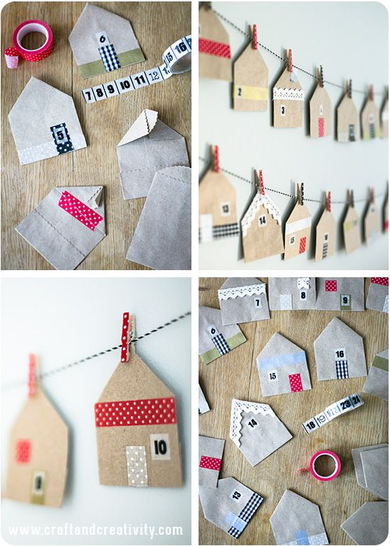"Foto ""pinnata"" dalla nostra lettrice Francesca Mereu House shaped favor bags - by Craft & Creativity"