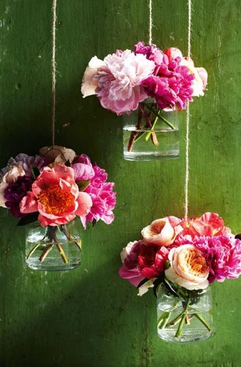 hanging flower vases