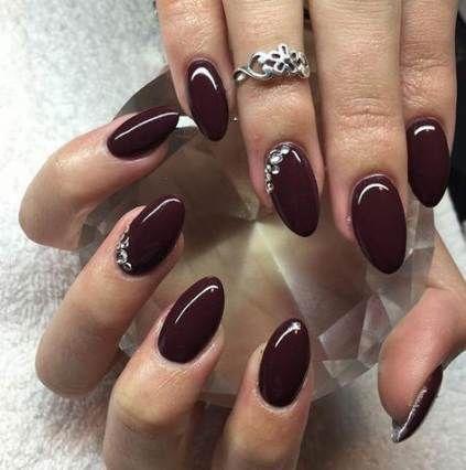 32 Ideen für Nägel oval dunkel – # dunkel # für # Ideen # Nagel # oval – # dunkel # für # Ideen …   – Ombre Nails Round