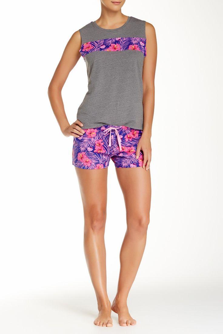 Floral Fever Pajama Short Set
