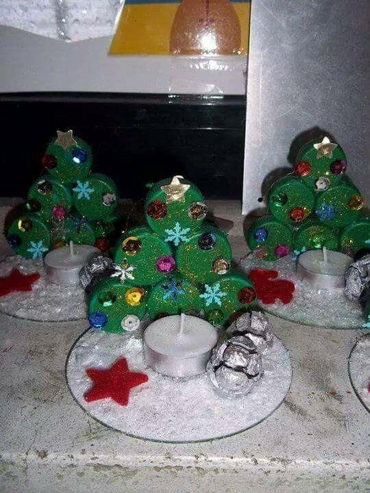 Van kurk en kerstman van kurk erbij.