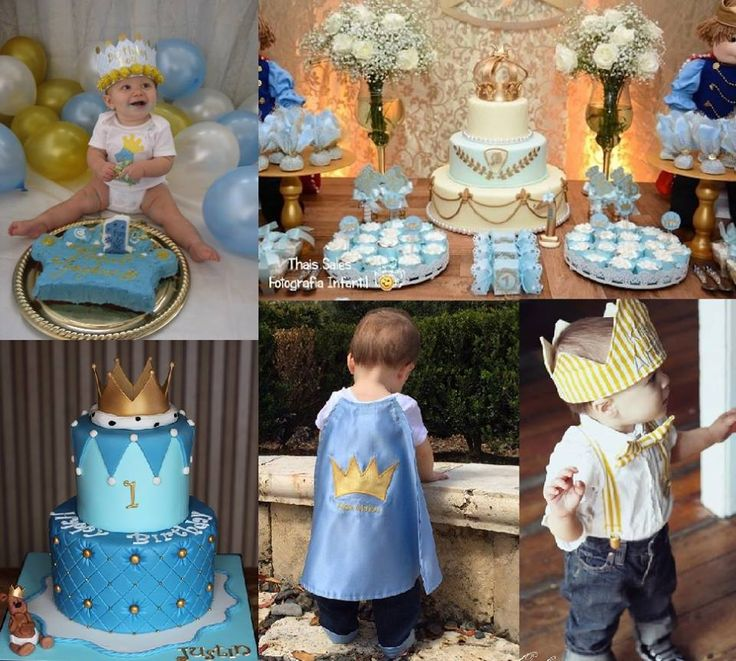 Inspiration picture for a 1st Birthday Princethemed party 1st