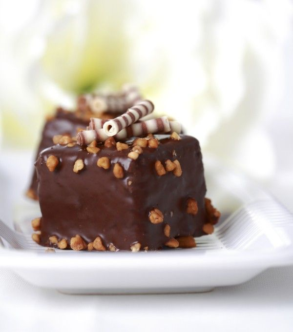 Petits carrés au chocolat (Pour changer de la bûche de Noël)