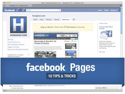 10 Tips & Tricks for your Business's Facebook Fan Page
