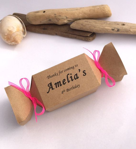 Set of 8 custom name and age birthday party favor by PipandtheSea