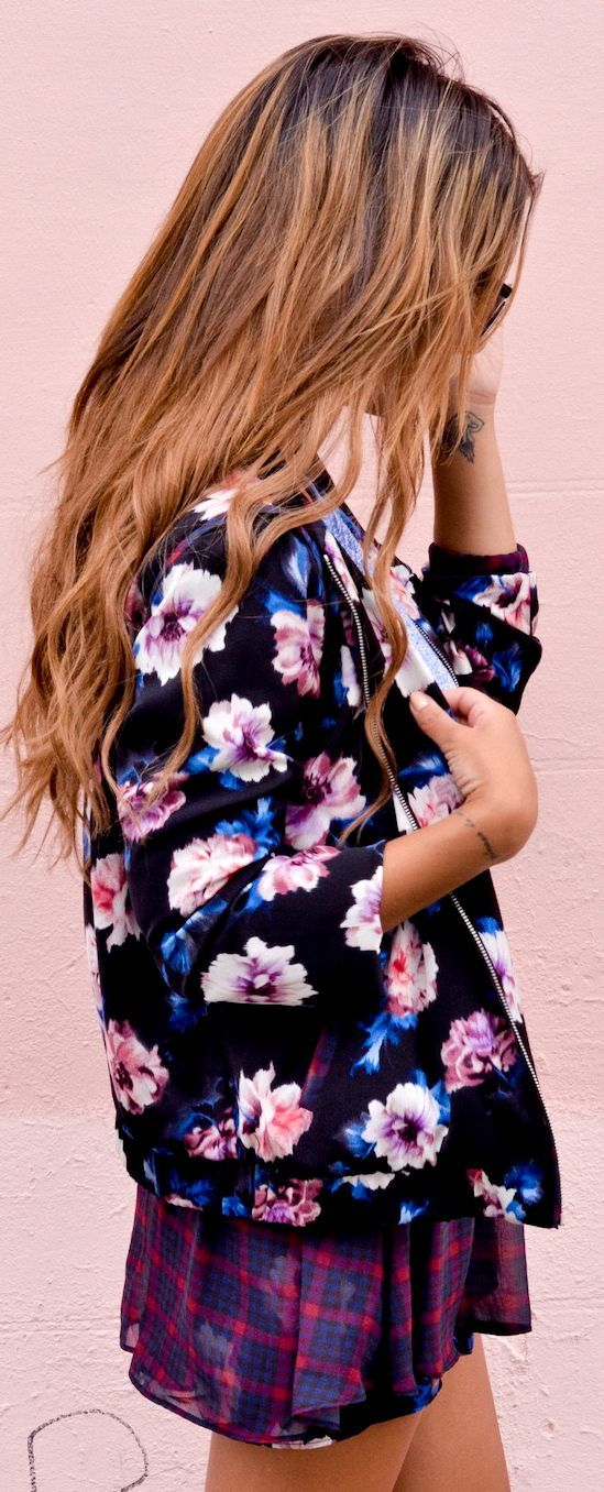 The Floral Suit #fashion #chic #streetstyle