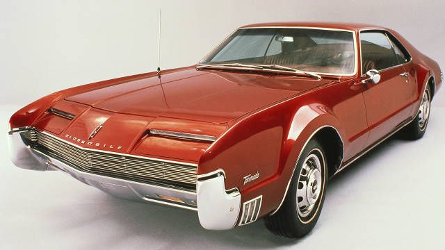 1966 Oldsmobile Toronado ..This cars designs were way ahead of its time..
