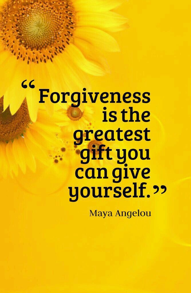 You need to forgive in order to build a new life!