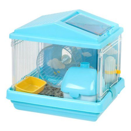 Iris Hamster Cage, Red, Blue