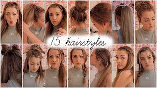 15 heatless hairstyles || Lilyellaburt ♡ - YouTube