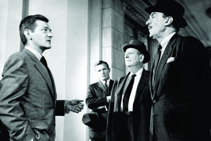 Paul Ford, George Grizzard, and Walter Pidgeon in Advise & Consent (1962)