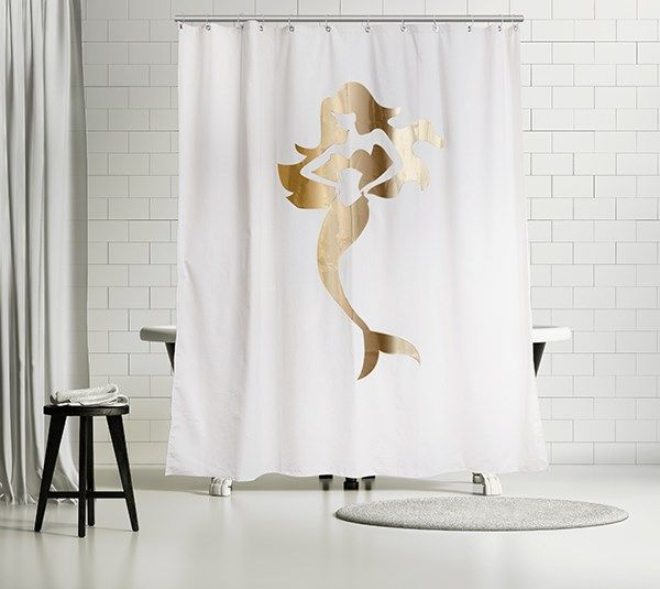 Get in touch with your inner mermaid with this mystical shower curtain!