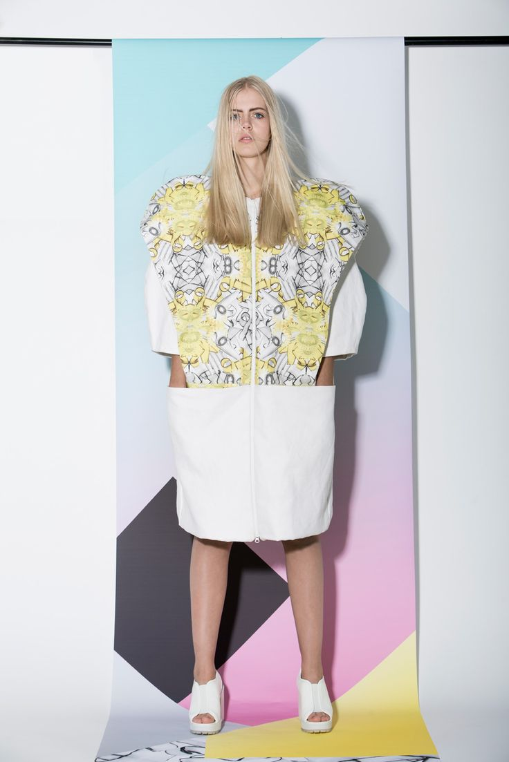 A dress from AGURK SS14 Collection. Fresh Danish fashion brand designs unique feminine streetwear. Editorial fashion photoshoot. #scandinavian #streetwear #fashion #danishdesign #femininestreetwear