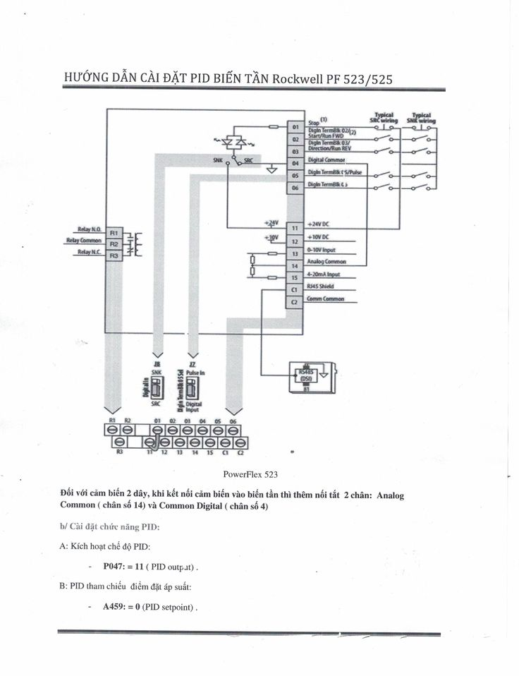 Cài đặt biến tần Rockwell PowerFlex 523/ Power Flex 525