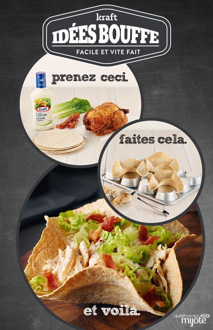 Bol de salade César au poulet #recette