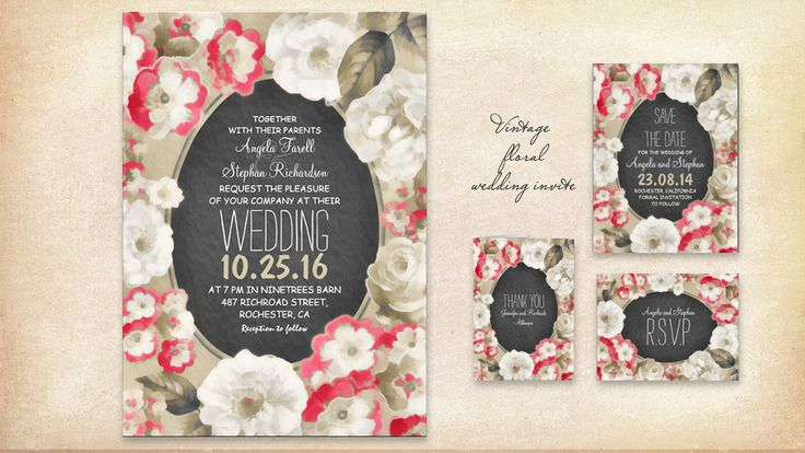 vintage-wedding-invitation-with-coral-white-flowers-wreath.jpg (900×507)