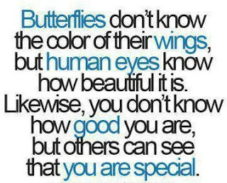 You are all as beautiful and unique as butterflies. I wish you could see it.