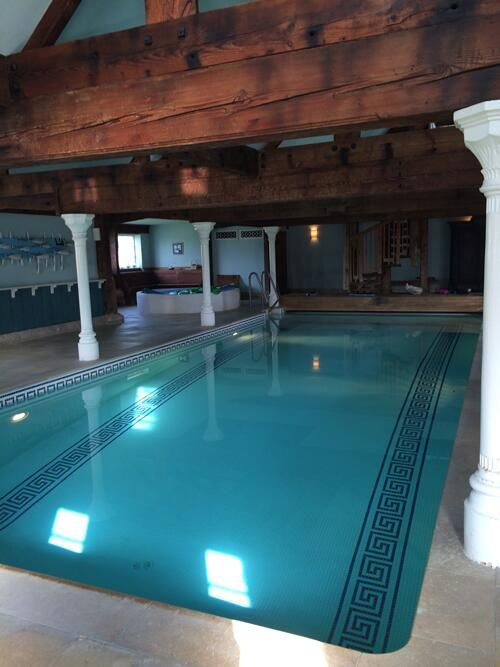 Swimming pool in barn conversion