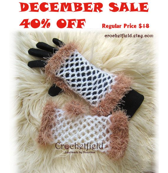 December Sale 40% OFF White & Beige Crochet by Crochetfield