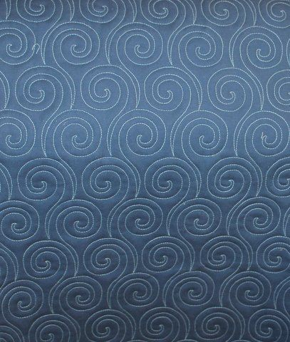 Well, this looks like fun!  Back of quilt - Swirls