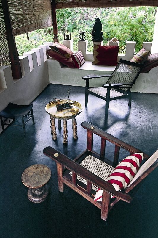 Safari culture house in kenya showcasing african arabian style this is the upper patio