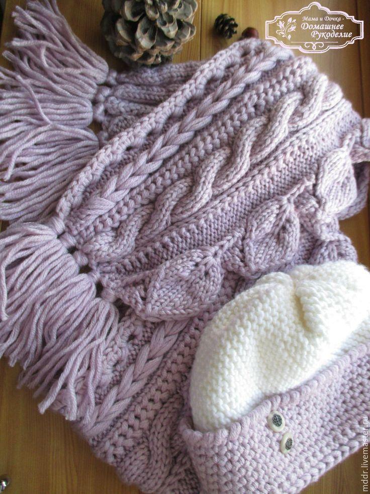 Купить Шапочка женская Зима в Провансе - лавандовый, шарф, шарф женский вязаный, шарф женский