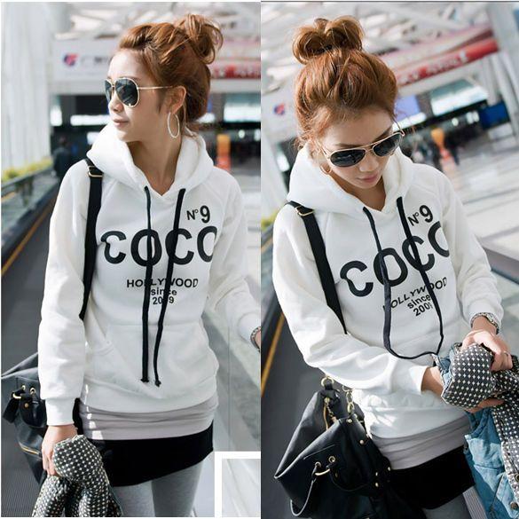Coco Print Casual Hoodie Sweatshirt Tracksuits Tops Outerwear | eBay