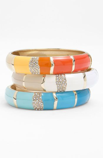 sequin hinged bangles :: love!