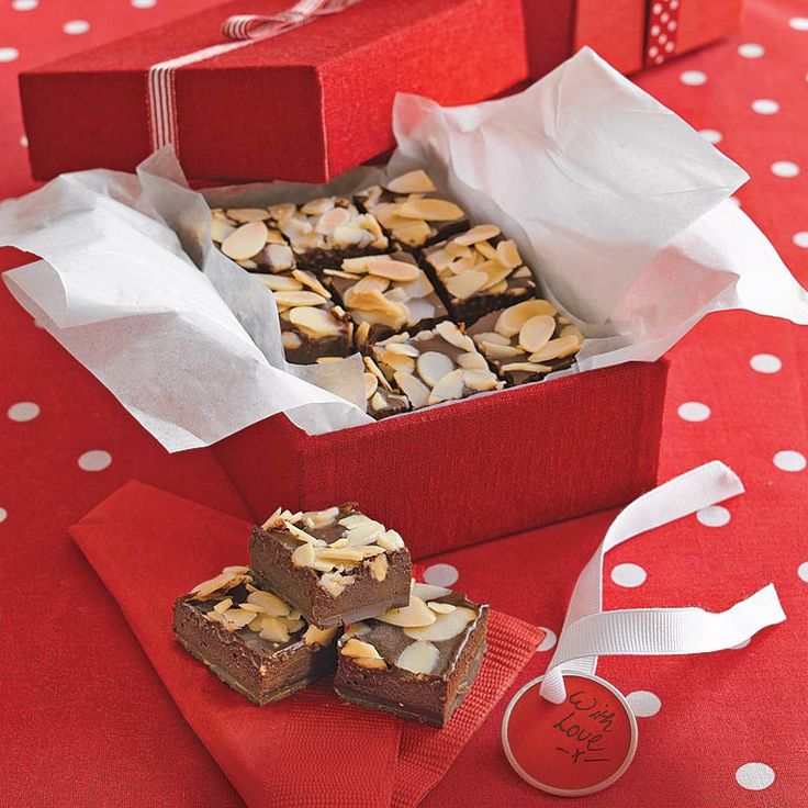 This rich, chocolate-almond fudge does not require a candy thermometer and is a great choice for holiday gifts. Lining the bottom of the...