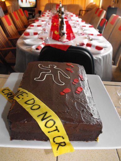 """Black, Red and White Formal Murdery Mystery """"Murder Mystery Party"""" 