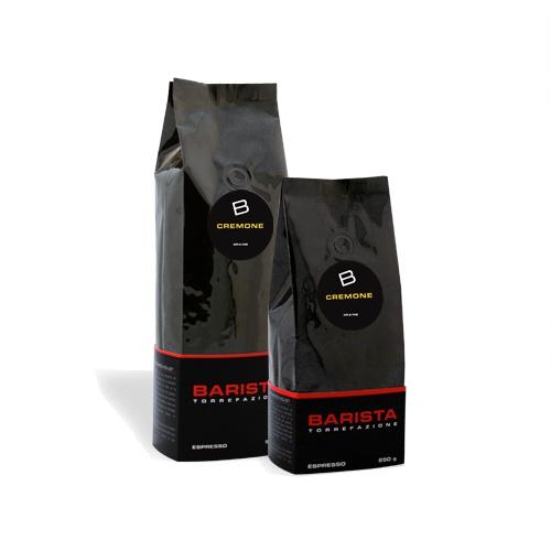 Cremone:  Ce mélange espresso fait à partir de grains de café en prévenance d'Amérique du Sud, d'Inde et d'Afrique est torréfié mi-noir. Cet espresso de qualité supérieure est long en bouche, il possède un arôme de chocolat noir. Sa crema épaisse de couleur caramel vous laissera un goût persistant en bouche. À partir de $9.50