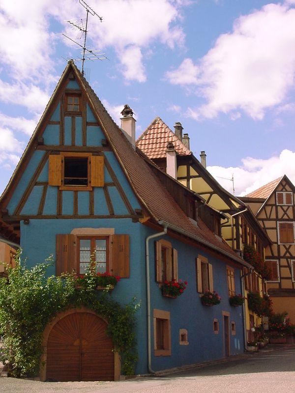 Maison du village de Saint-Hippolyte, en Alsace, France