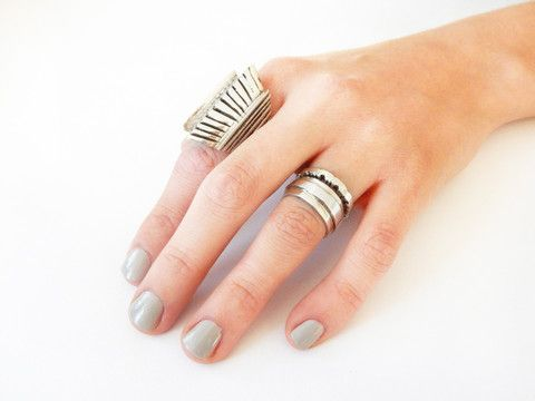 Handmade Sterling Silver FAITHFUL, COURAGE & PIECES rings
