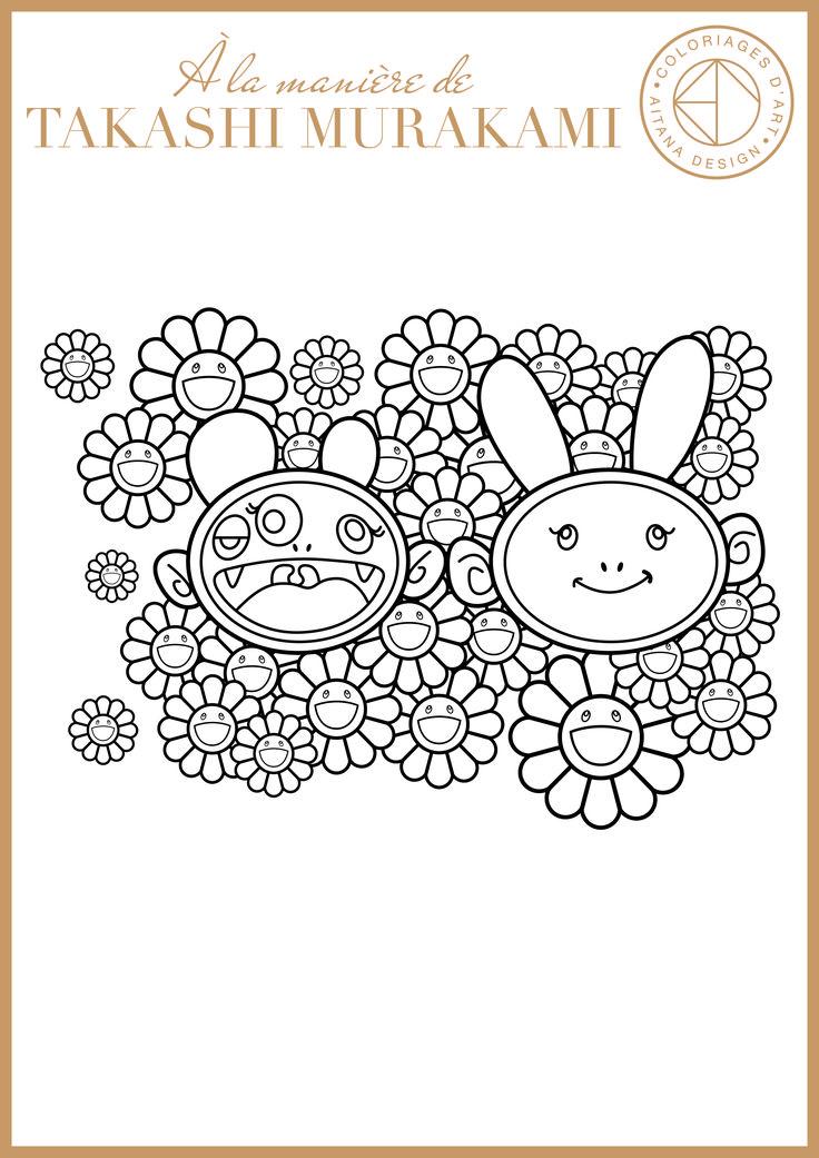 Mises à disposition et téléchargements de coloriages d'art « à la manière de », réalisés dans le cadre d'ateliers numériques avec des enfants de 3 à 7 ans.