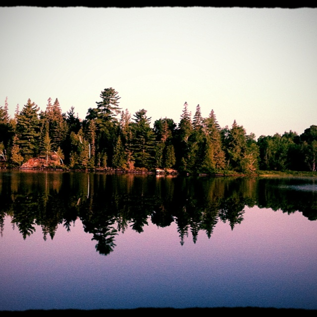 On the lake in parry sound Ontario canada