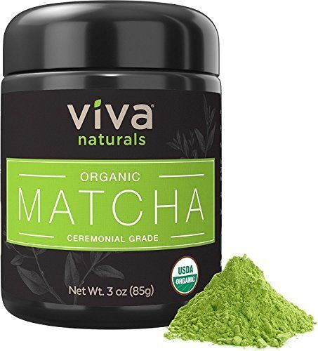 Viva Naturals Organic Matcha Green Tea Powder [3 oz] - Japanese Ceremonial Grade for Lattes, Smoothies and Baked Goods ** You can get more details by clicking on the image.