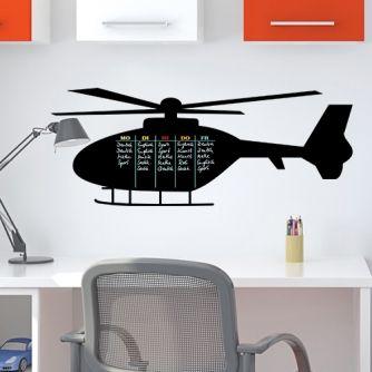 Tafelfolie Stundenplan Hubschrauber