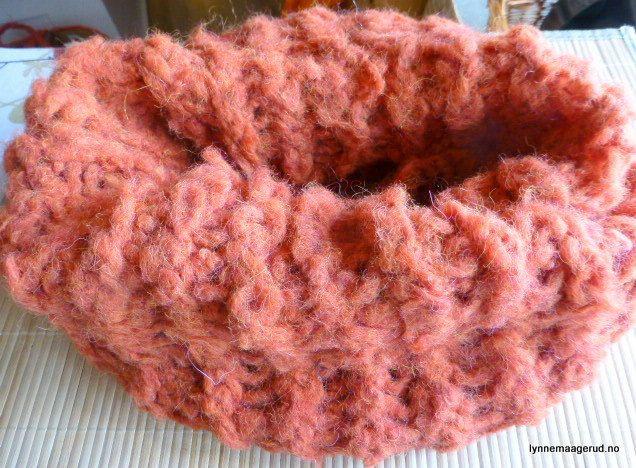 "Handknitted scarf in ""Burnt orange"" pure alpacka by LynnesEbooks on Etsy"