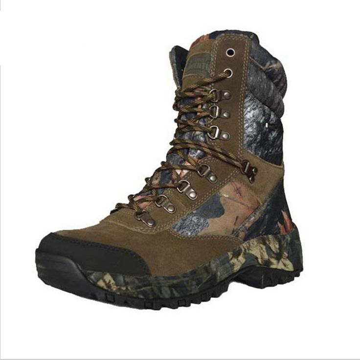 Outdoor Hunting Boots training Tactical Camo Boots Army Military Boots Climbing Mountain Hiking Shoes