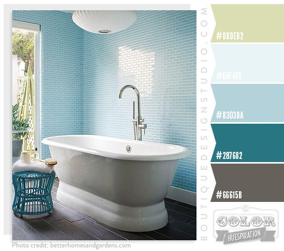 Spa Oasis Color Palette Green Blue Aqua Best