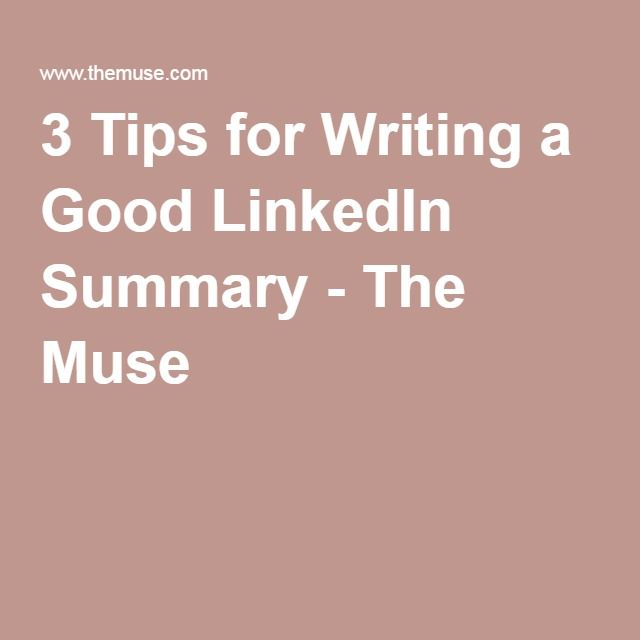 how to write good summary in linkedin