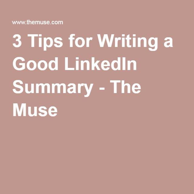 how to write good summary in linkedin